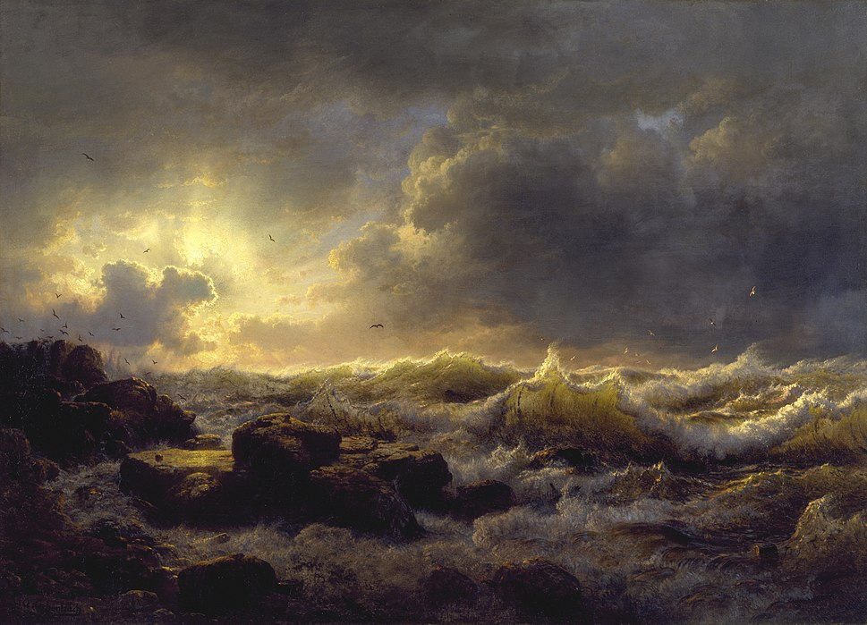 Andreas Achenbach - Clearing Up—Coast of Sicily - Walters 37116