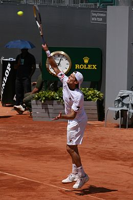 Andreas Seppi at the 2009 Mutua Madrileña Madrid Open 01.jpg