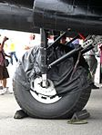 Andrew Mynarski Memorial Lancaster undercarriage Flickr 4840510285.jpg