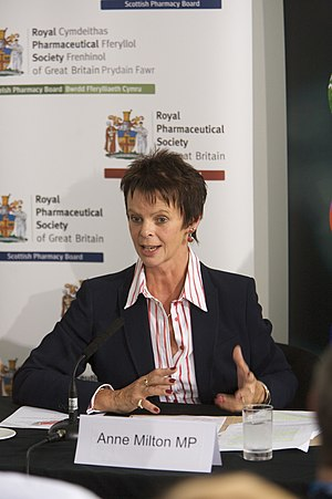 Anne Milton - Milton speaking at a Health Hotel session on the credit crunch and public health during the 2009 Conservative Party Conference.