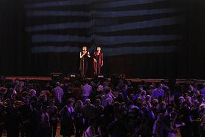 Denez Prigent - Kan ha diskan singers in fest-noz in Rennes (Yaouank Festival 2015).