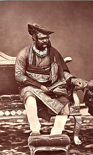 Jayajirao Scindia - a photo by Talboys Wheeler from The Imperial Assemblage, 1877
