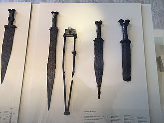 Iron Age sword - Celtiberians swords with antennas, National Archaeological Museum (Madrid)