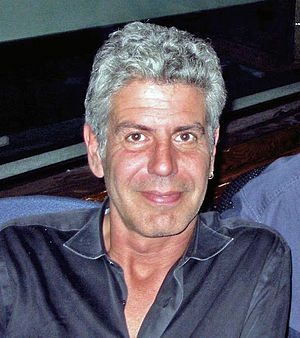 Anthony Bourdain being interviewed in the WNYC...