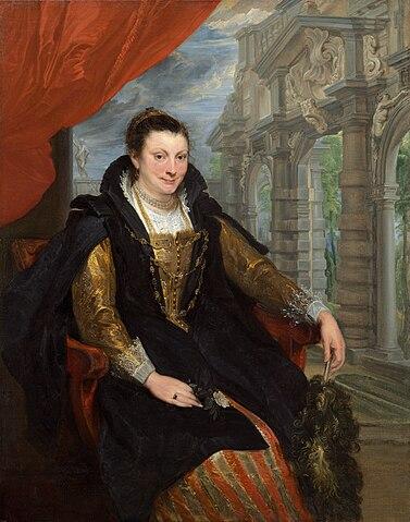 Антонис ван Дейк. Портрет Изабеллы Брант. Масло, холст, 153×120см. Вашингтон, Национальная галерея