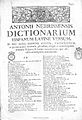 Antonii Nebrissensis... Dictionarium 1754 Nebrija 884.jpg