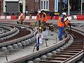 Anzin & Valenciennes - Travaux de raccordement des lignes A & B du tramway de Valenciennes à la Croix d'Anzin le 20 août 2013 (07).JPG