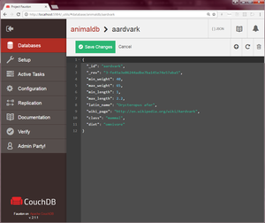 CouchDB's Futon Administration Interface, User database