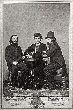 Apiro, Konstantin - Der Geiger I. Pikkel und die Komponisten E. Napravnik und K. Ljadov. St. Petersburg (Zeno Fotografie).jpg