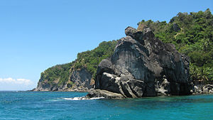 Negros Oriental - Rock formations at Apo Island