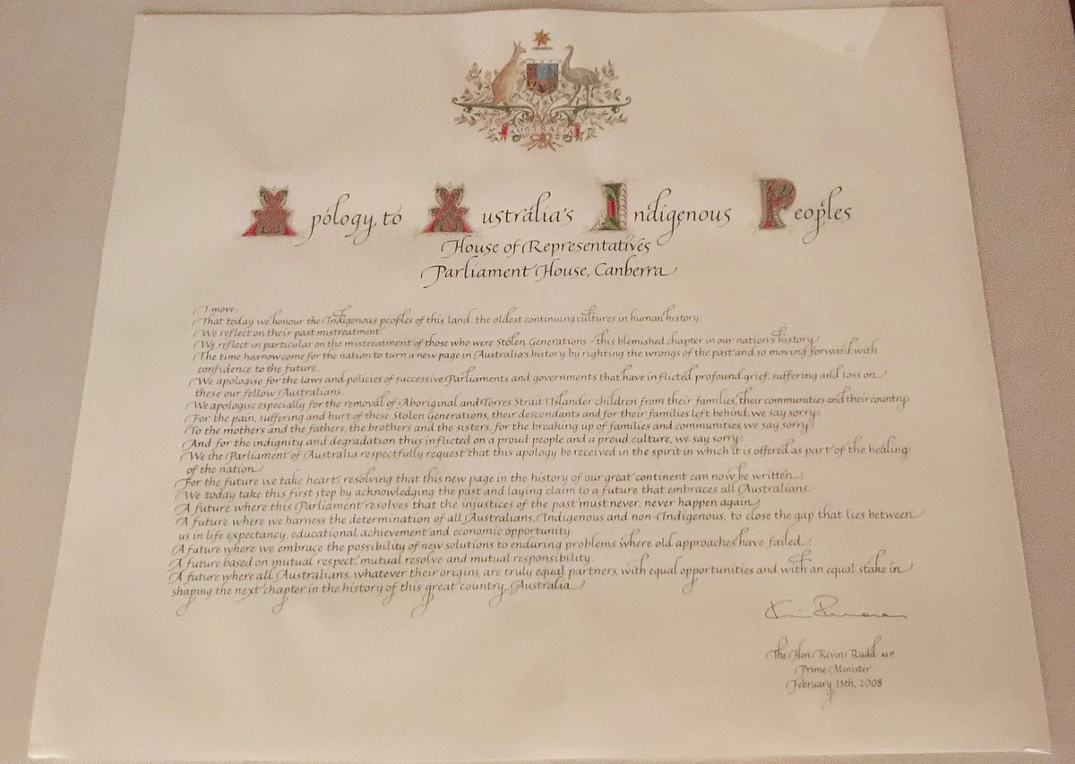 1200px-Apology_to_Australia%27s_Indigenous_Peoples  Example Of An Informal Group on letter closings, language word, letter canada, text language, report writing, reading assessments,