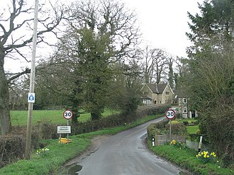Seagry - Image: Approach to Upper Seagry geograph.org.uk 1802335