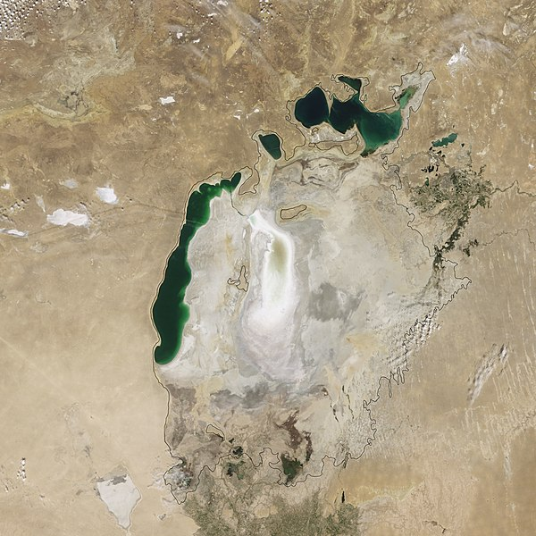 File:Aral Sea Continues to Shrink, August 2009.jpg