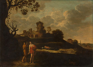 Arcadian landscape with herdsmen and cattle