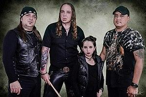 Arcuri Overthrow - Arcuri Overthrow's members: left to right, Felipe, Vicente and Fiorella Arcuri, and Luis Loyo.