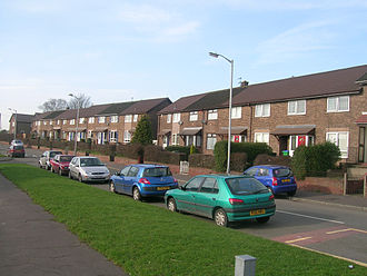 Overspill estate - The Darnhill estate near Heywood, Greater Manchester was built by Manchester Corporation between 1947 and the 1960s as overspill housing.