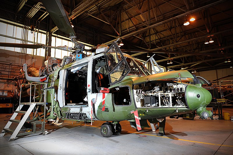 File:Army Lynx Helicopter During Maintenance MOD 45152241.jpg