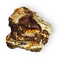 Arsenopyrite 2 in rock Iron sulfarsenide Sierra County California 2171.jpg