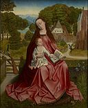Artist(s) Unknown, possibly Master of the Madonna Grog or Aert van den Bossche, formerly Master of the Embroidered Foliage - Virgin and Child in a Landscape - 90.7 - Minneapolis Institute of Arts.jpg