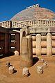 Ashokan Pillar - Stupa 1 - Sanchi Hill 2013-02-21 4361.JPG