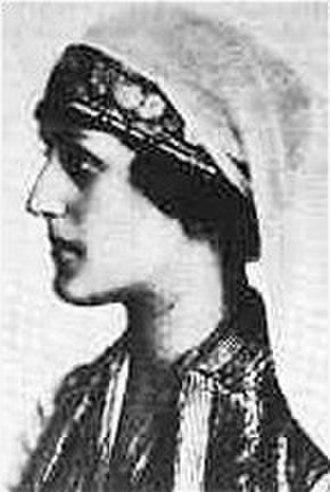 Aspasia Manos - Aspasia Manos in Greek costume, ca. 1920