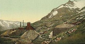 Silver mining in Colorado - Silver mines at Aspen, circa 1898–1905.