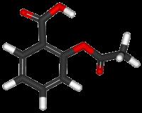 Ácido acetilsalicílico Estructura química