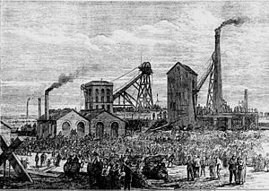 Astley Deep Pit disaster - Astley Deep Pit disaster 1874 from the Illustrated London News
