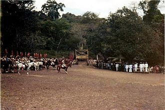 Portuguese Timor - Portuguese ceremony in Atabae (1970)