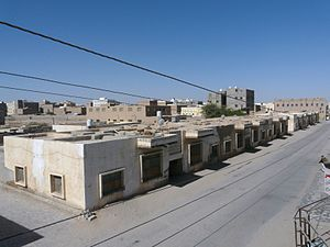 Ataq - Part of old Ataq city with some modern buildings.