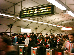 Athletic Club fans Bilbao Metro2