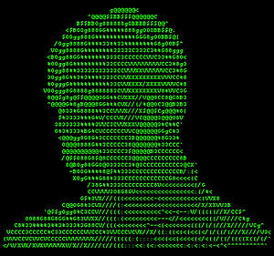 Electronic music artist Atom™ in ASCII