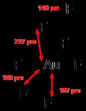 Gold heptafluoride - Image: Au F5 F2