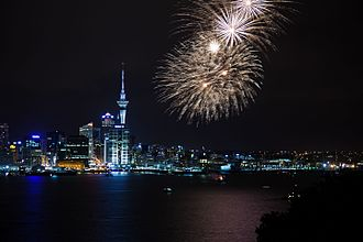 Auckland Anniversary Day - Fireworks for the 2011 Auckland Anniversary Day
