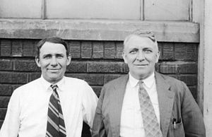 Duesenberg - Brothers Duesenberg pictured in 1925, August at left and Fred at right.