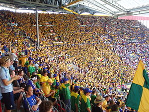 Australia–Japan football rivalry - Socceroos supporters at a Japan match in Kaiserslautern