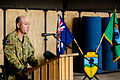 Australian Army Col. Wade Stothart, the incoming commander of Combined Team Uruzgan, delivers remarks during a transfer of authority ceremony Aug. 7, 2013, at Multinational Base Tarin Kowt in Uruzgan province 130807-O-MD709-098-AU.jpg