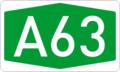 Autokinetodromos A63 number.png
