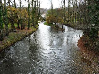 Auvézère river in France