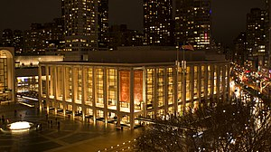 Lincoln Center for the Performing Arts - David Geffen Hall, home of the New York Philharmonic in Lincoln Center
