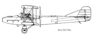 Avro 523 Pike - Image: Avro 523 left