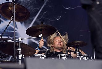 Axxis - Drummer Dirk Brand at Rockharz 2016