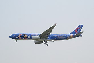 Shanghai Disney Resort - China Eastern Airlines, the major airline based in Shanghai, painted one of its Airbus A330-300s in Shanghai Disney Resort livery