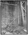 BARN FRAMING SYSTEM. VIEW TO WEST NORTHWEST - Lila Farm, Barn, E808 State Highway 54, Plover, Portage County, WI HABS WIS,49-PLOV.V,1B-7.tif