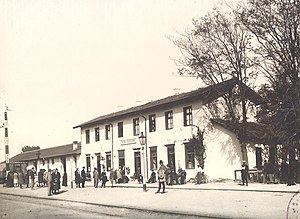 Pazardzhik - The railway station in 1928