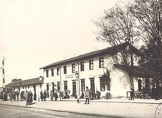 Pazardzhik - The railway station in 1928