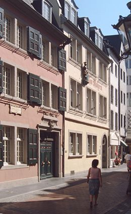 Beethovenhaus in Bonn, birthplace of the composer Ludwig van Beethoven.
