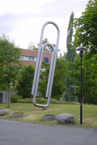 Paper clip - The giant paper clip in Sandvika, Norway. It shows the Gem, not the one patented by Vaaler.