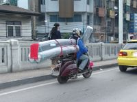 Bangkok: Vespa scooter in transport-business
