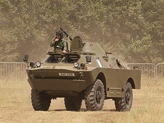 Scout car - A Soviet BRDM-2, the most common modern scout car.